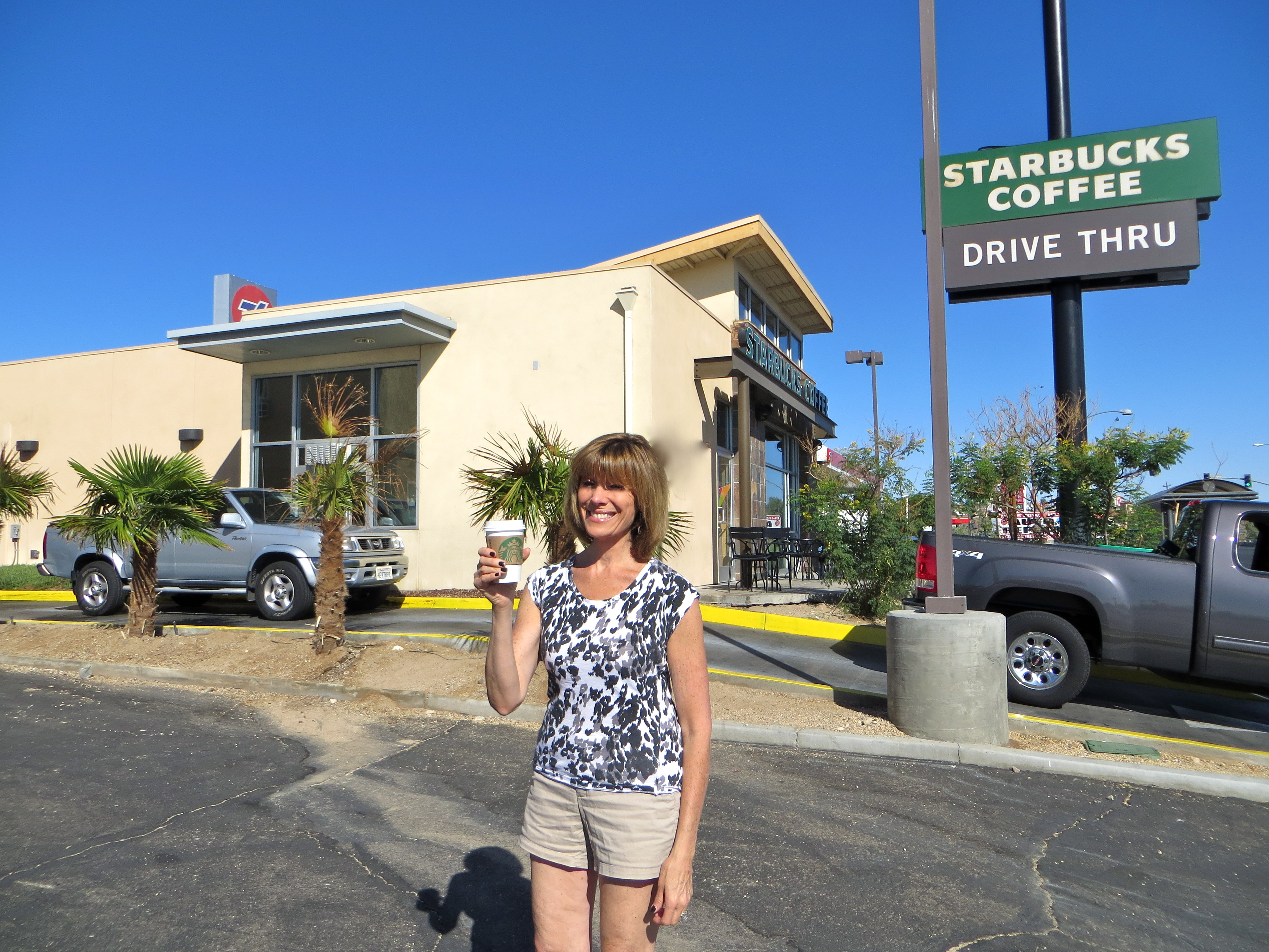 roz on the road on the road to rt 66 barstow ca to santa monica ca
